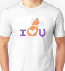 Corgi Butt Love You Unisex T-Shirt