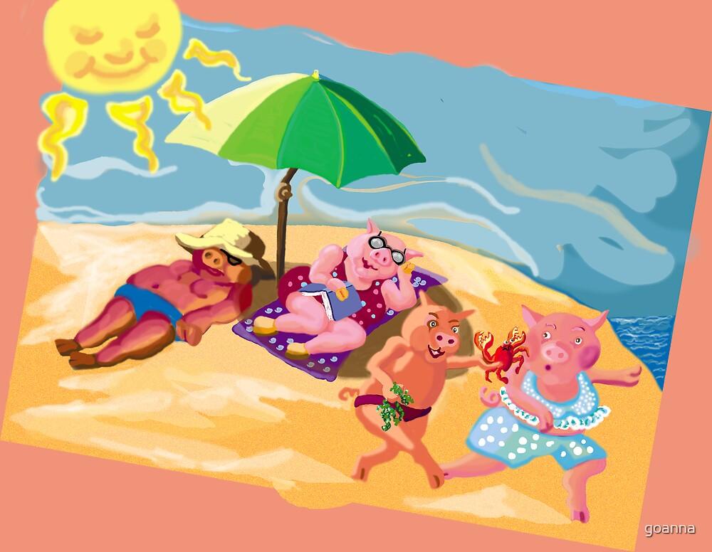Fun in the sun by goanna