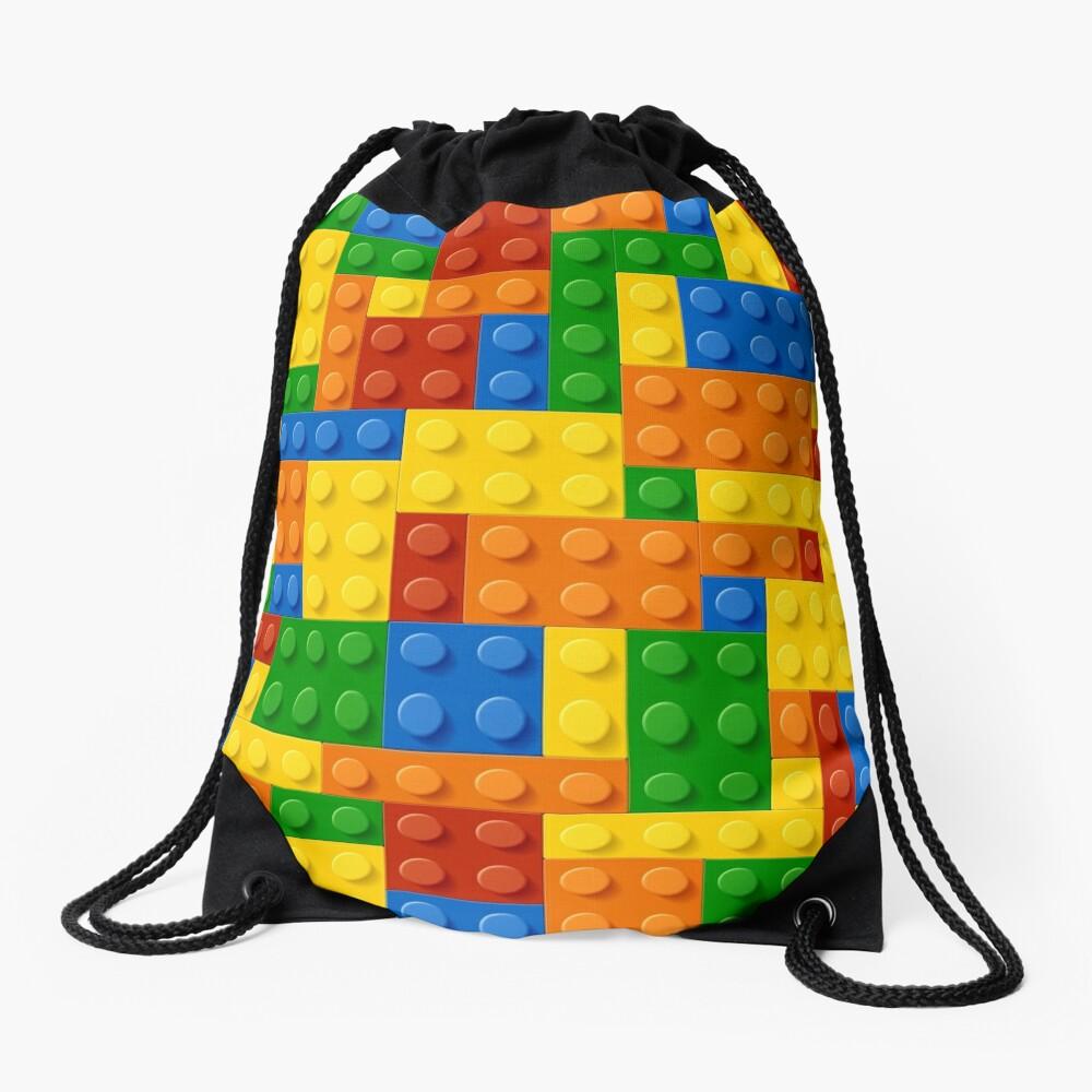 Building Blocks Construction Brick  Drawstring Bag