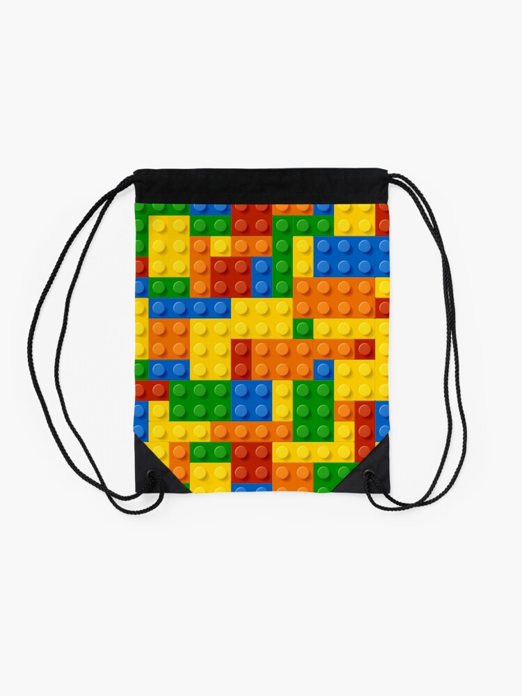 Alternate view of Building Blocks Construction Brick  Drawstring Bag