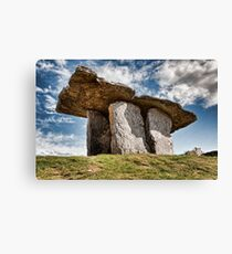 Dolmen megalithic tomb grave, County Clare, Ireland. Canvas Print