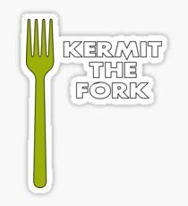 Kermit the Fork Sticker
