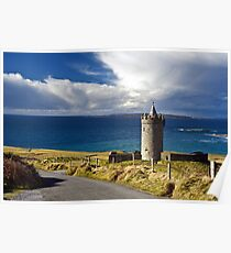 Doolin Irish Castle, County Clare, Ireland Poster