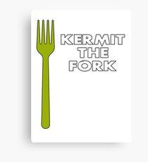 Kermit the Fork Canvas Print
