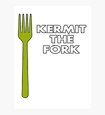 Kermit the Fork Photographic Print