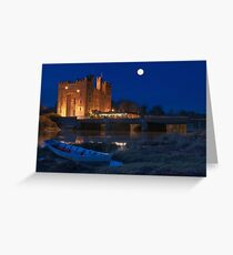 Irish Castle, Bunratty Castle at Night, County Clare, Ireland Greeting Card