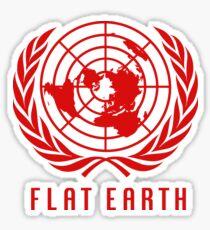 Flat Earth Map (Classic Red UN Map Azimuthal Logo) Sticker