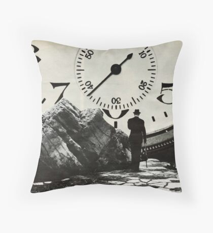 Time's up  Throw Pillow