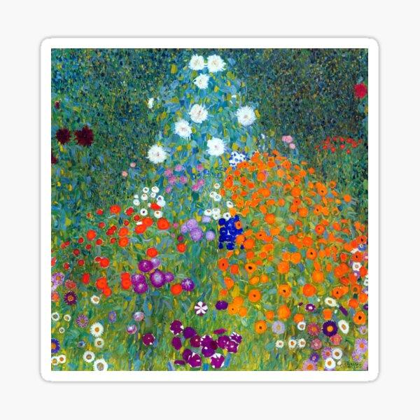 Gustav Klimt Flower Garden Sticker