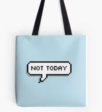 BTS - NOT TODAY pixel graphic Tote Bag