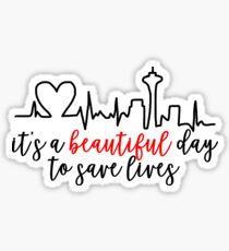 Pegatina Es un hermoso día para salvar vidas