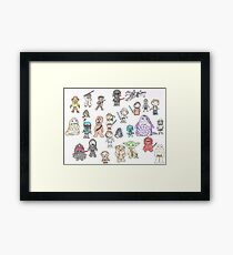 Star Characters Wars Framed Print