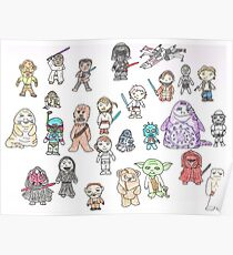 Star Characters Wars Poster