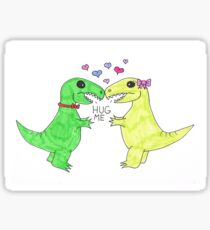 T-rex Hugs Sticker