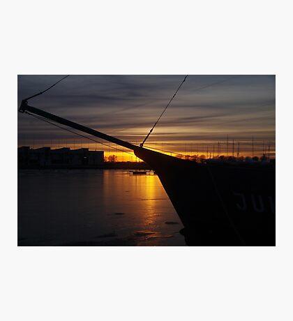 February sunset Photographic Print