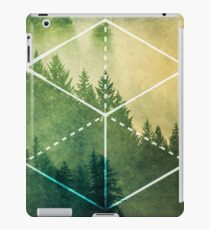 Forest Trees - Geometric Nature Element of Earth iPad Case/Skin
