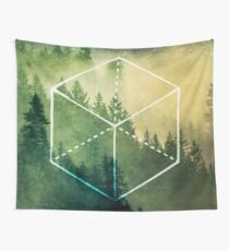 Forest Trees - Geometric Nature Element of Earth Wall Tapestry