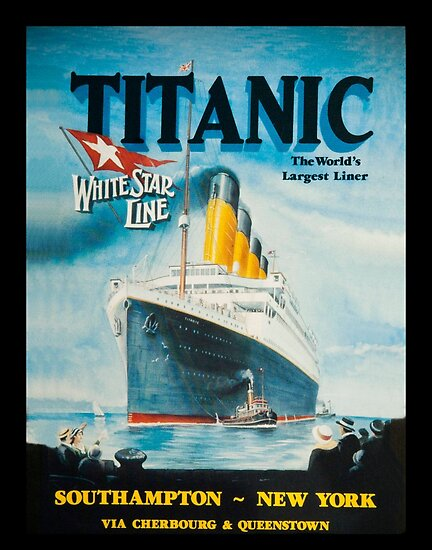 """Titanic Poster Advertisement"" Posters by diane addis ..."