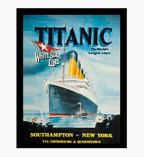 Titanic Poster Advertisement Photographic Print
