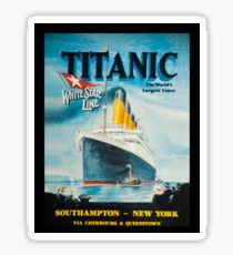Titanic Poster Advertisement Sticker