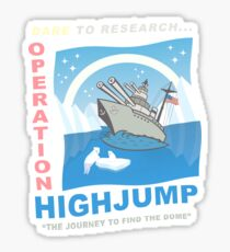 Flat Earth Designs - Dare to Research Operation Highjump Sticker