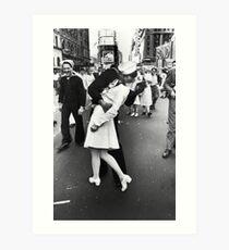 Lámina artística VJ Day en Times Square