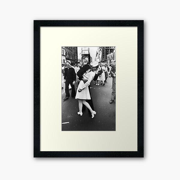 V-J Day in Times Square Framed Art Print