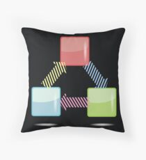info graphic elements Throw Pillow