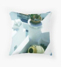 Backyard Blues Throw Pillow