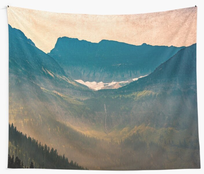 Mountains and Forest - Valley Sunset by artcascadia