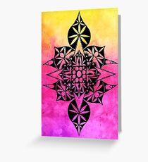 Pink Watercolor Mandala Greeting Card