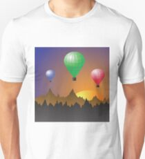 Colored balloons Unisex T-Shirt