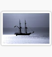 Tall Ship Royalist Mono Sticker