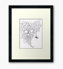 Heart Web Framed Print