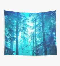 Nature Forest - Blue Frost Woods Wall Tapestry