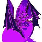 Purple Lizard of Flame  by Rayjun