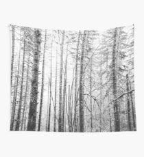 Forest Trees - Winter Wood Wall Tapestry