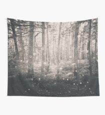 Forest Nature Walk - Magical Winter Fairy Lights Wall Tapestry