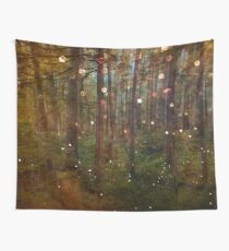 Forest Trees Nature Path - Magical Midsummer Night's Dream Wall Tapestry