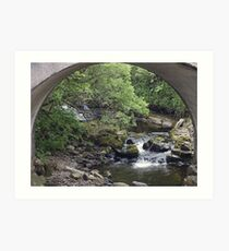 Water under the bridge Art Print