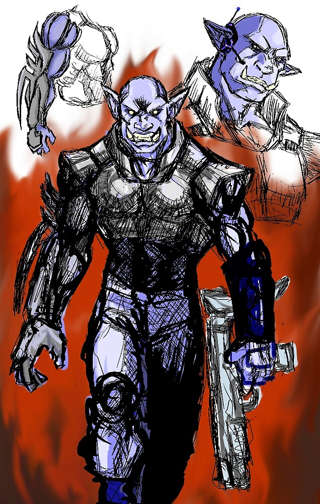Orcish Warrior by Byruza