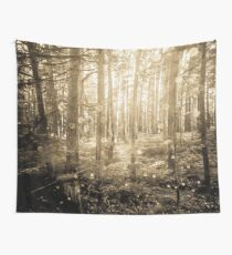 Forest Trees - Vintage Sepia Magical Lights Woods Wall Tapestry