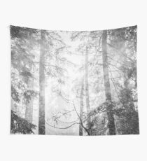 Forest Trees - Black and White Magical Woods Wall Tapestry