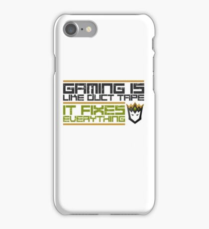 Gaming is like Duct tape. iPhone Case/Skin