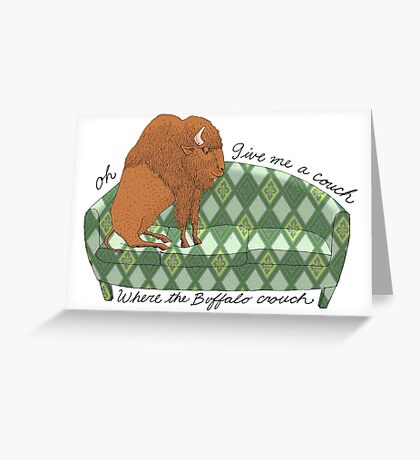 Buffalo on Couch nap time Greeting Card