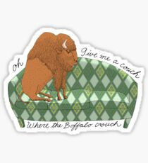Buffalo on Couch nap time Sticker