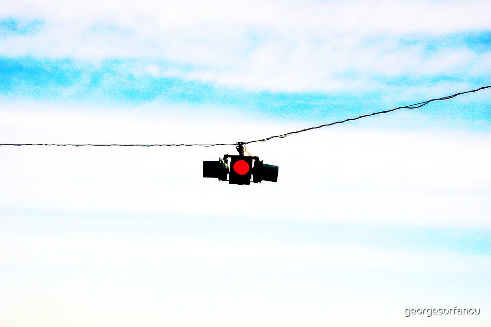 Hanging red light by georgesorfanou
