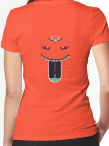 Decorative Smiley Face: The Smiler Women's Fitted V-Neck T-Shirt