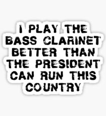 Funny Bass Clarinet T Shirt Sticker