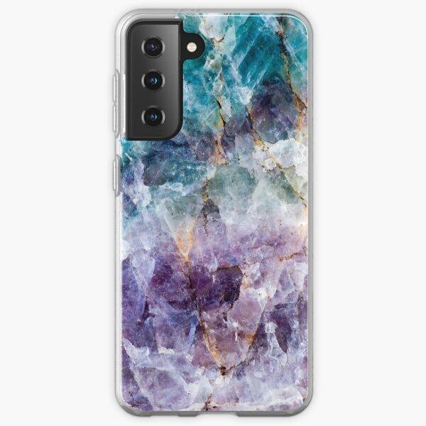 Turquoise & Purple Quartz Crystal Samsung Galaxy Soft Case